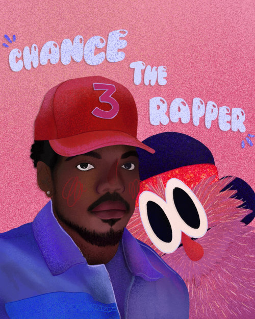 Chance the Rapper portrait art