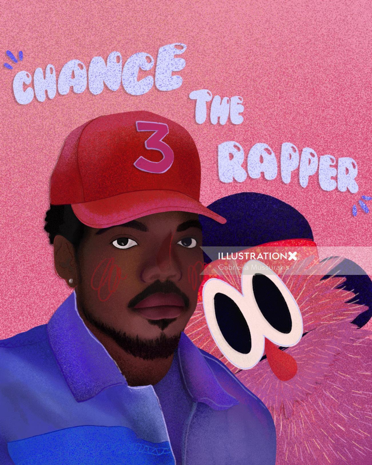 Chance the Rapper portrait art