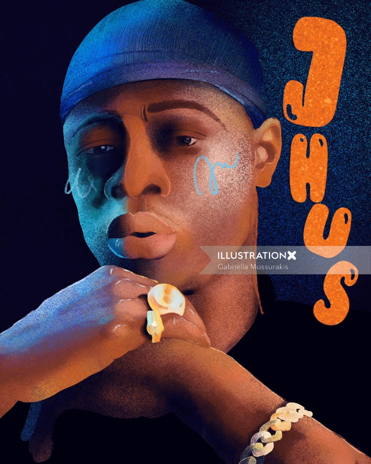 J Hus Singer portrait art