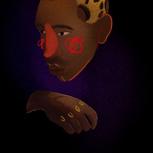 Portrait of Tyler The Creator American rapper