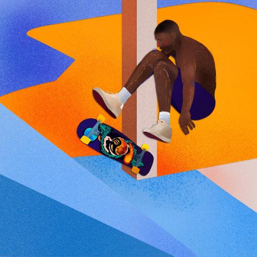 Garçon skateur