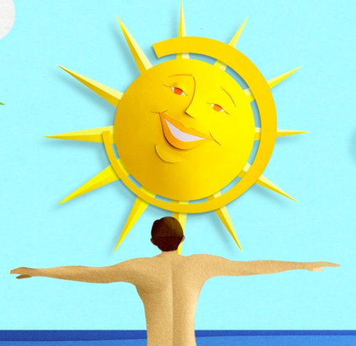 Animation for advertising Sunsense sunscreen