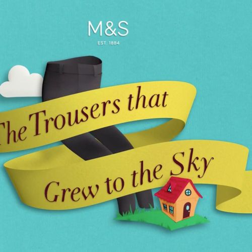 Lettering art of the trousers that grew to the sky