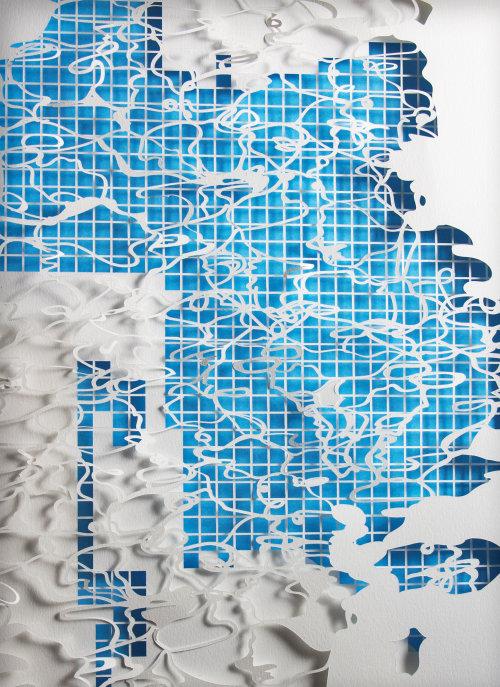 Art du papier de motifs de maille de reflets et d'ombres