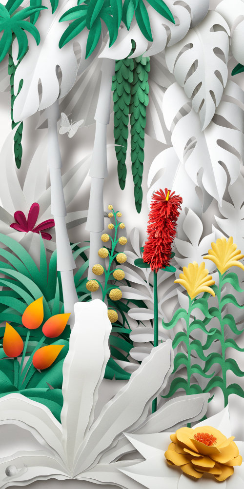 Paper Garden illustration by Gail Armstrong