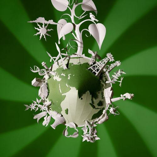 Conceptual art of Environmental globe