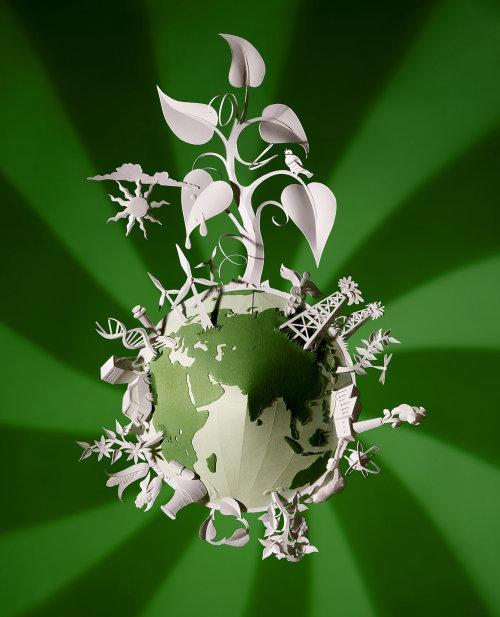 Arte conceptual del globo ambiental