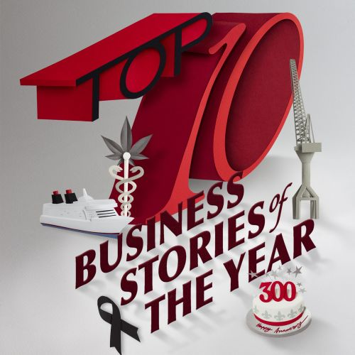 Typography of business stories of the year by Gail Armstrong