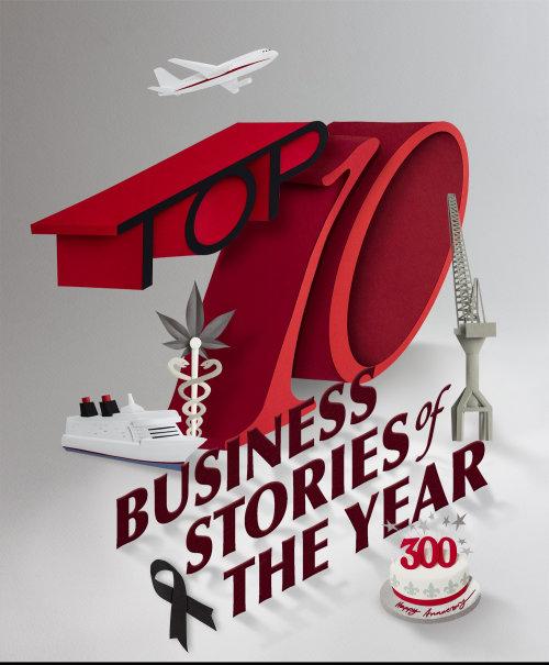 Tipografía de historias de negocios del año por Gail Armstrong