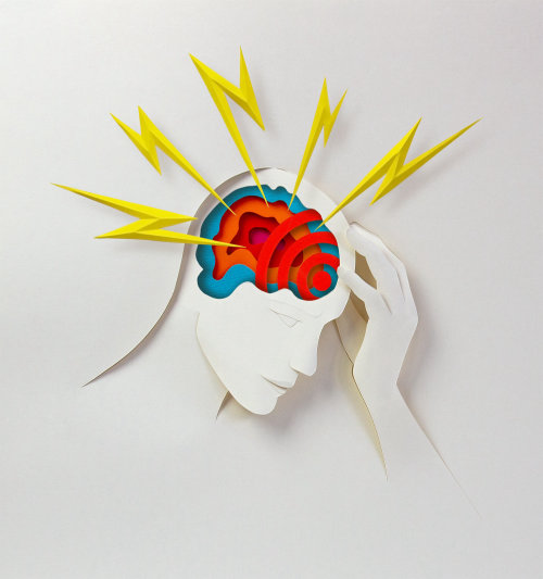 Paper art of Human brain