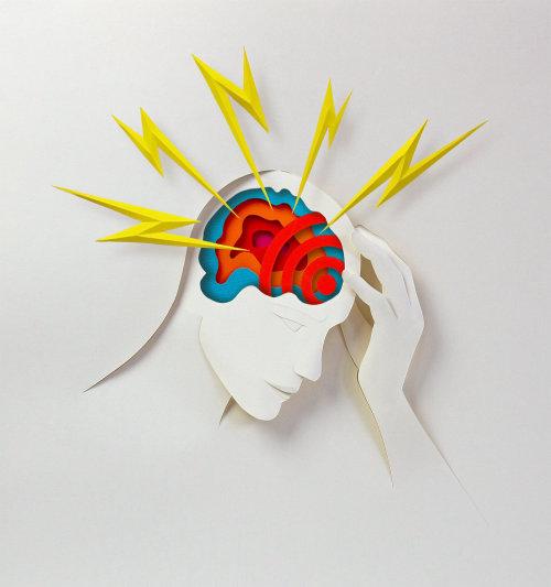 Papier d'art du cerveau humain