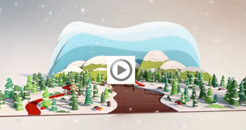 Animation d'art en papier de la ville