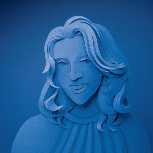 Paper art of Pantone self portrait