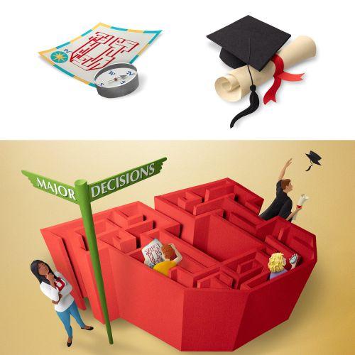 Paper art of life Major decisions