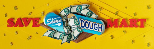 Paper art save some dough