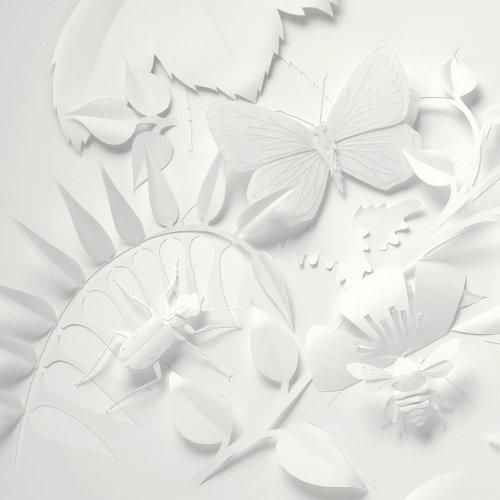 insectes dart en papier avec feuillage