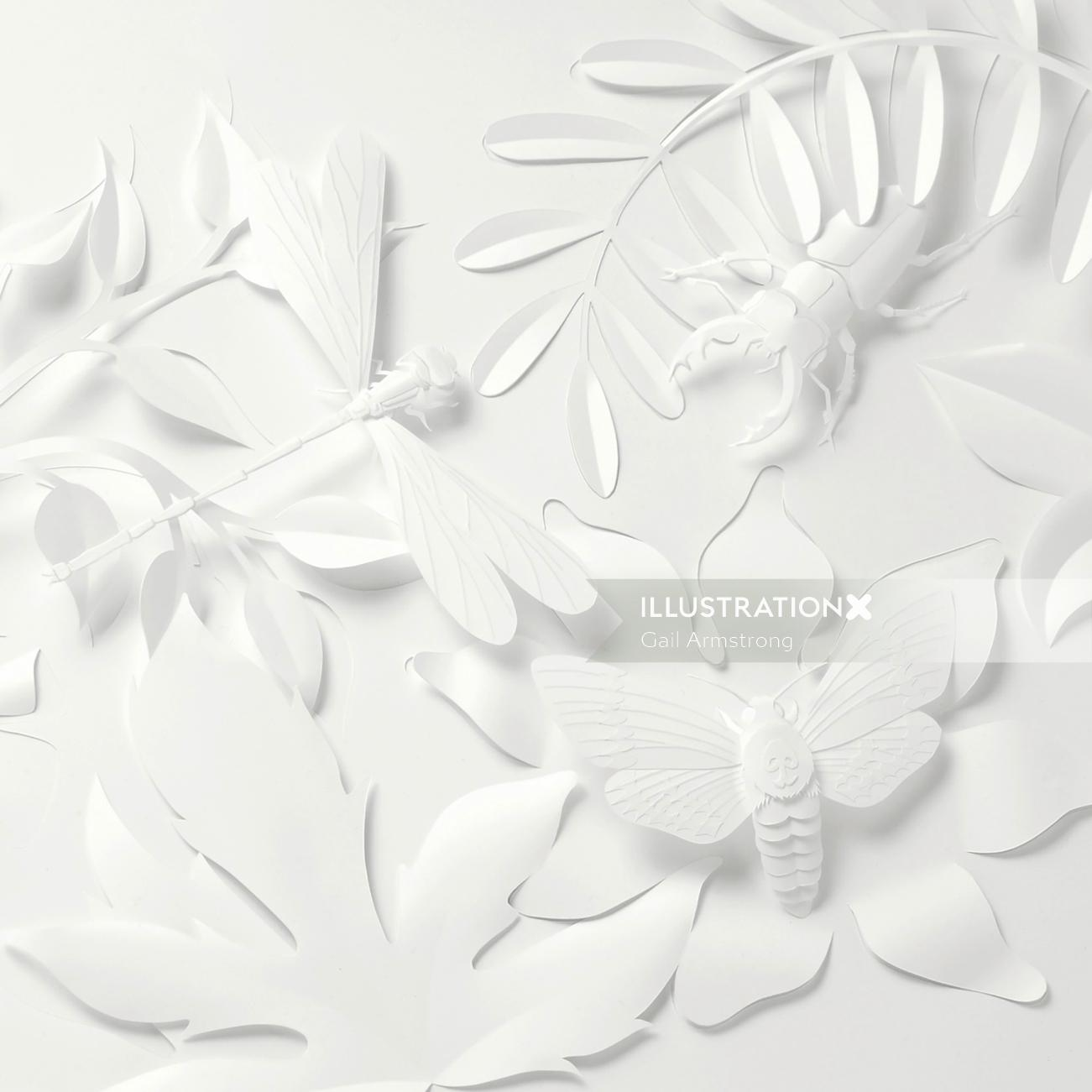 paper art insects