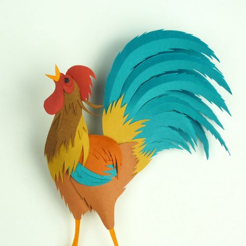rooster at dawn