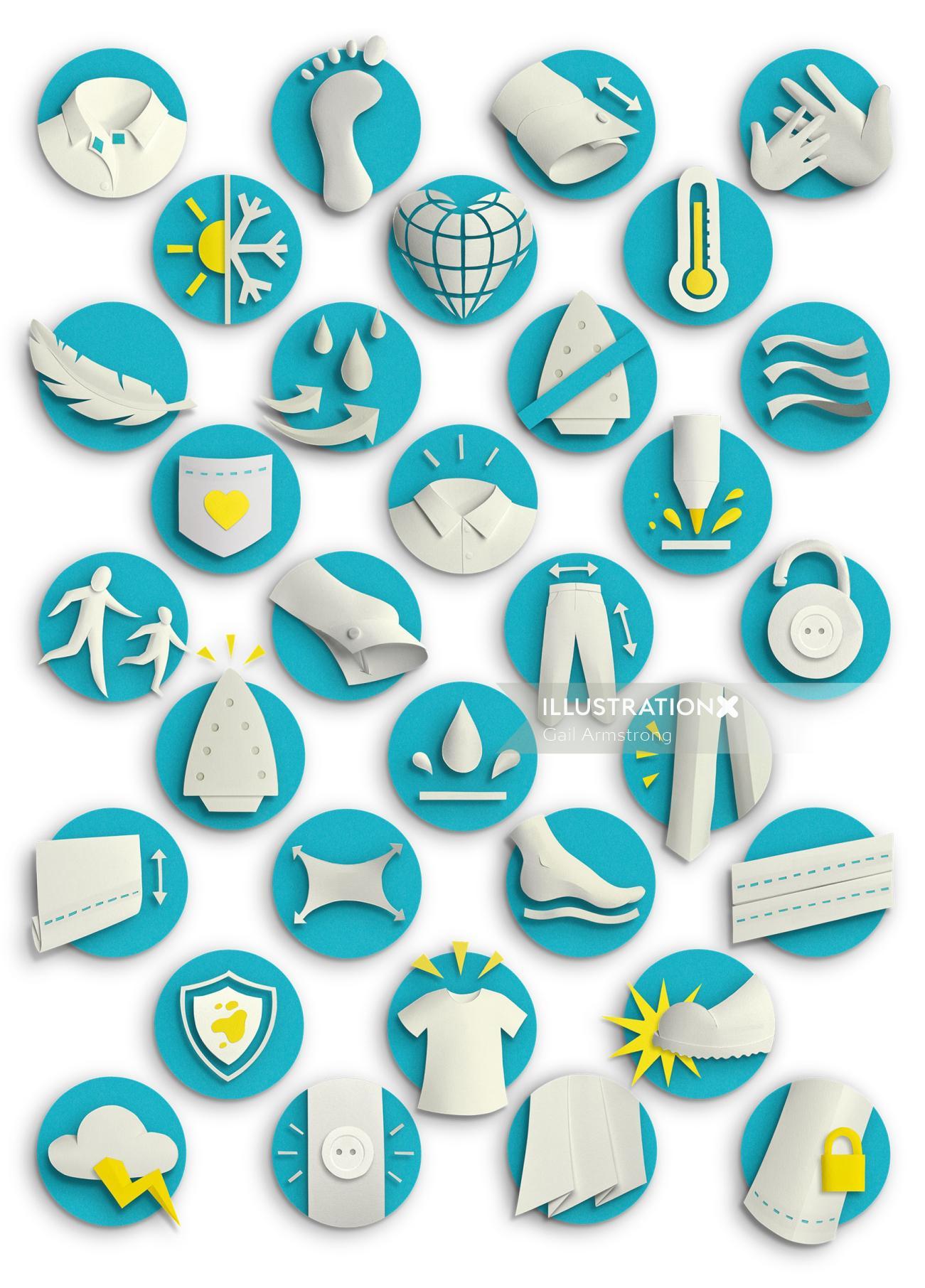 set af smart innovation symbols