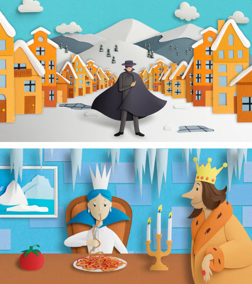 Landau d'hiver et intérieur du palais de glace