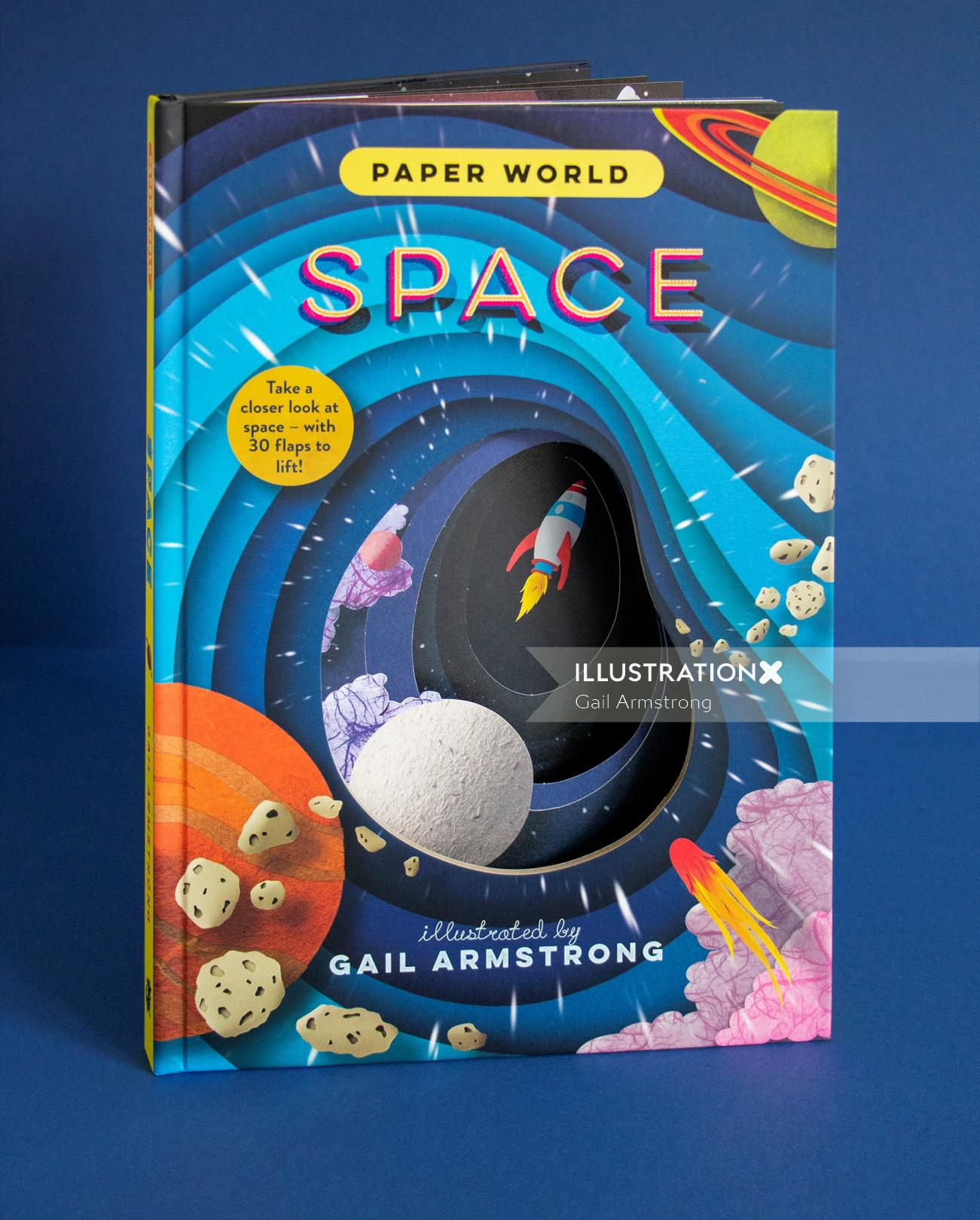 Rockets, planets, astronauts and outer space