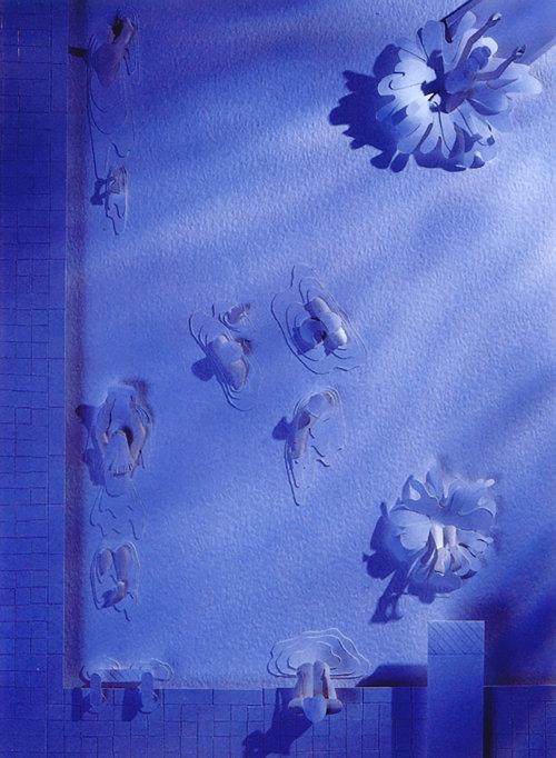 arte de papel de piscina