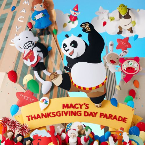 84th Macy's Thanksgiving Day Parade with Kung fu Panda, Shrek and Whimpy Kid