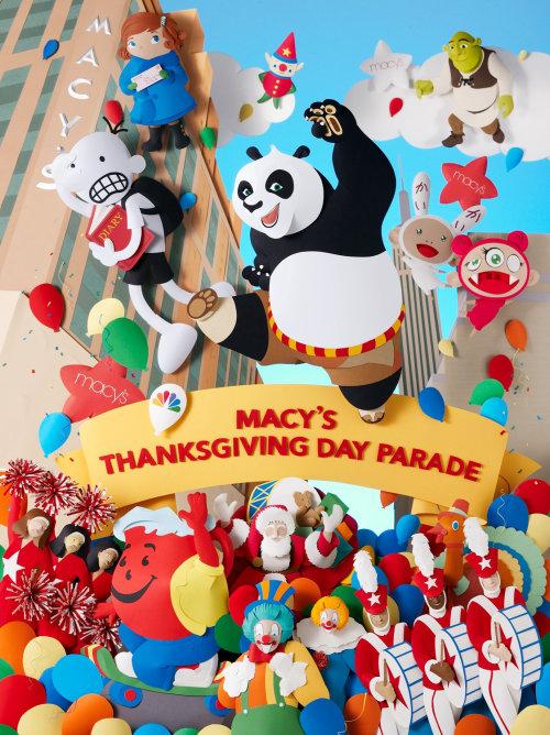 84º Desfile del Día de Acción de Gracias de Macy's con Kung fu Panda, Shrek y Whimpy Kid