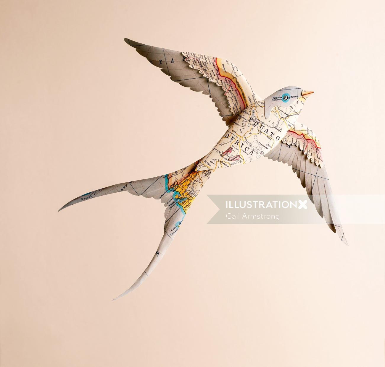illustration of swallow bird