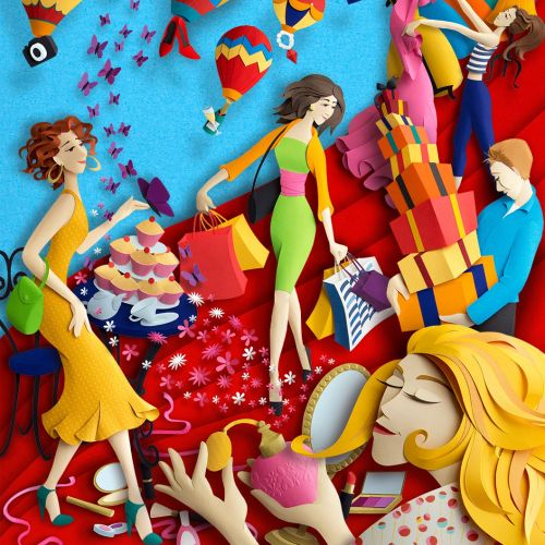Illustration of Fashion Lifestyle and Shopping by Gail Armstrong