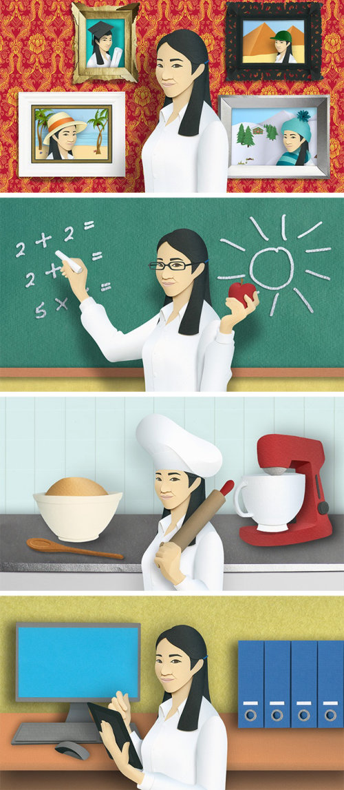 papercraft, international, occupation, chef, career, office, gallery, teacher, education