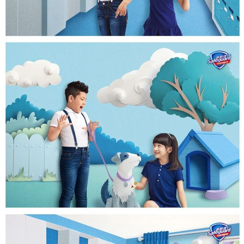 Papercut locations and scenes for Handwash campaign