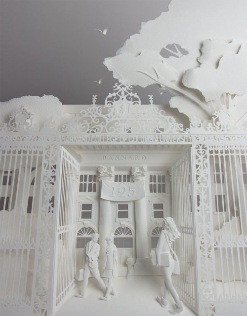 Paper Art For Barnard College