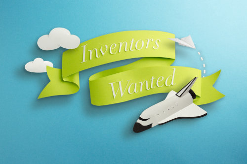 Inventors Wanted Label Design