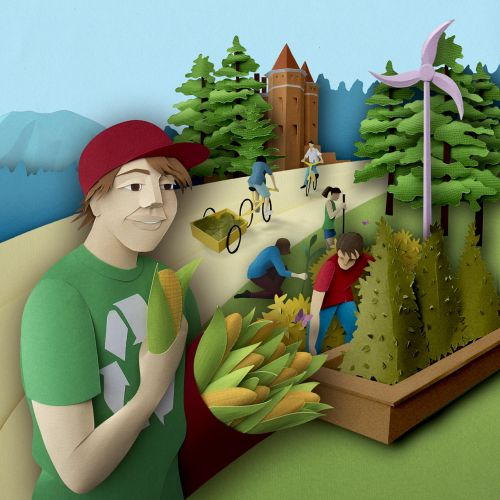 Gardening illustration for culture of sustainability article