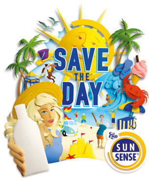 save the day  campaign for Sunsense paper artwork