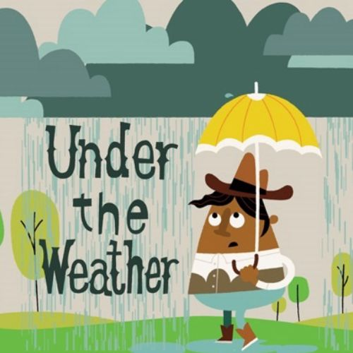 idiom under the weather animation