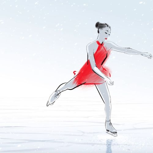 ice dancing animation for new year