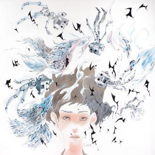Lady hand draw illustration