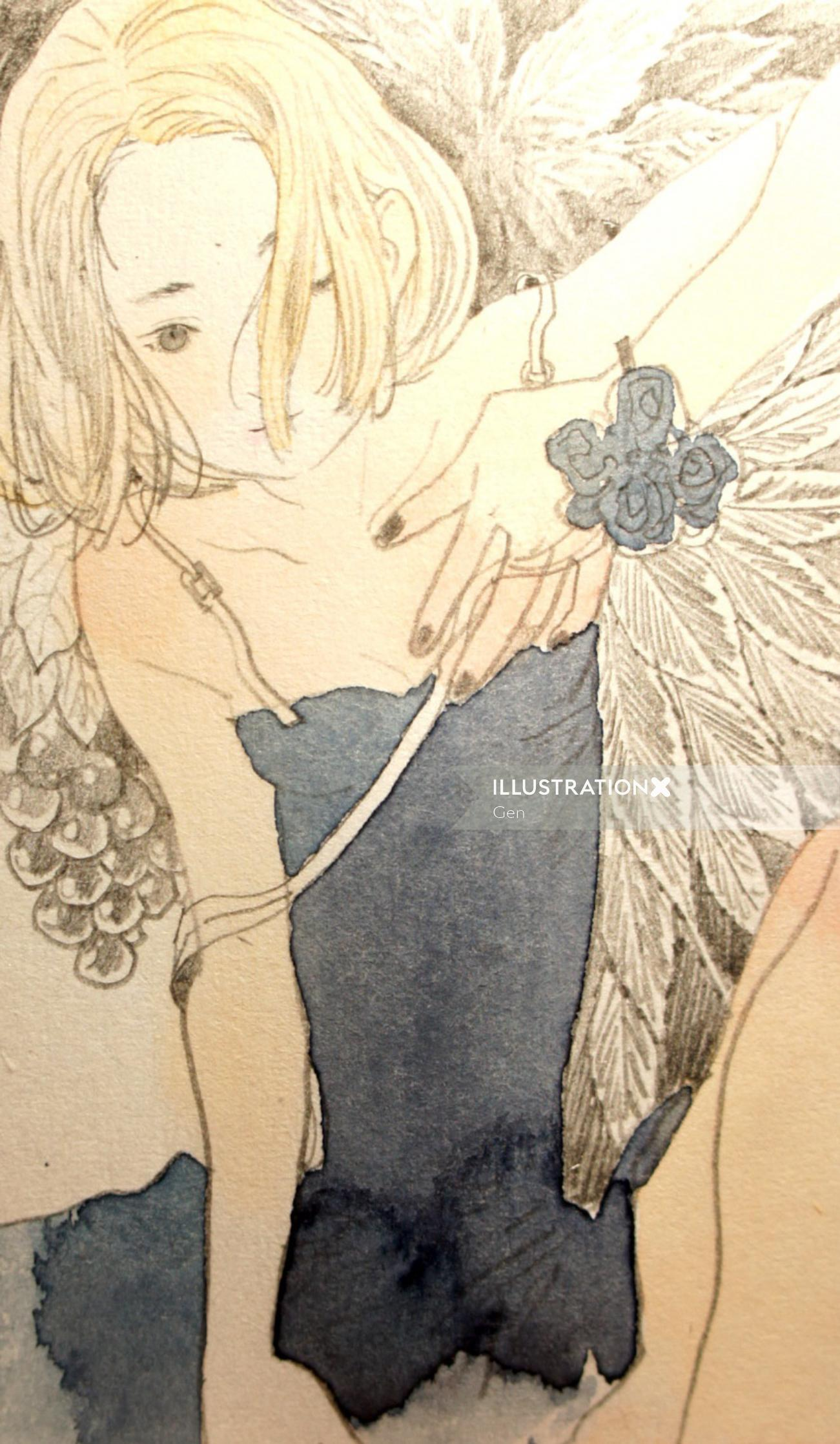 Girl fashion portrait