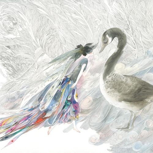 Animals art of swan