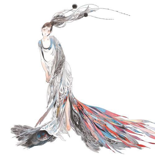 Contemporary illustration fashion dress
