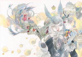 Creative artwork of rabbits in human character