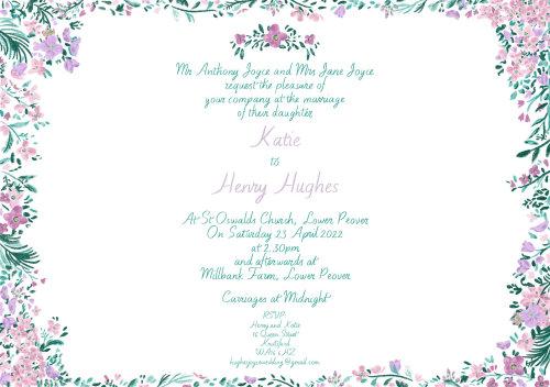 Wedding Invitation Lettering