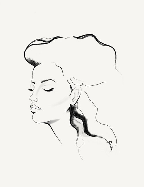 Conceptualized Graphite Portrait of a Coloured Girl