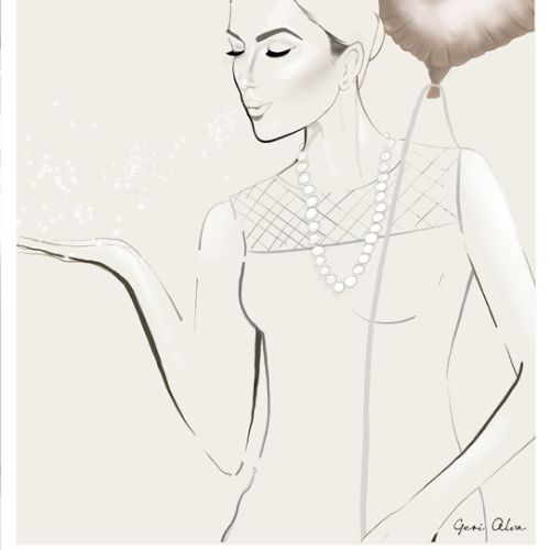 fashion, fashion illustrations, fashion editorial illustrations, beauty, woman with balloon, woman b
