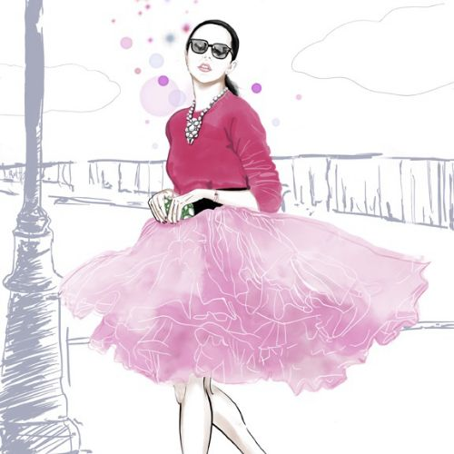 Fashion illustration for New York Socialite