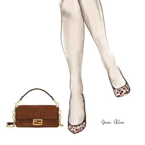 fashion, fashion illustrations, fashion editorial illustrations, beauty, leopard heels, animal print