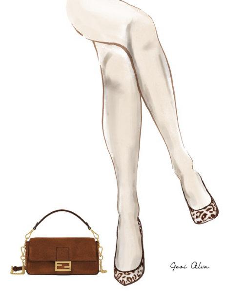 moda, ilustrações de moda, ilustrações editoriais de moda, beleza, saltos de leopardo, estampa animal