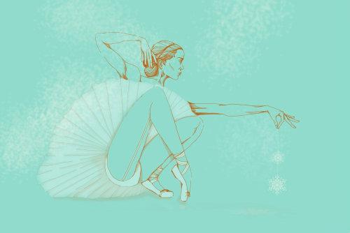 Ballerina girl fashion illustration